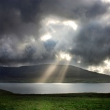 Sun rays in whale-fjord